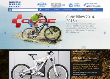 Damian Harris Cycles Website