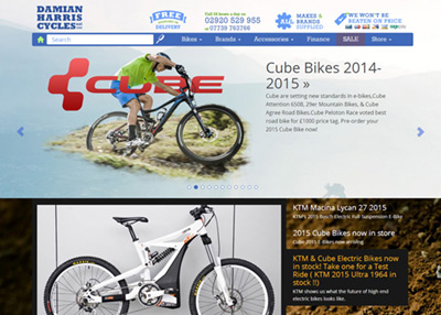 Damian Harris Cycles, eCommerce expertise