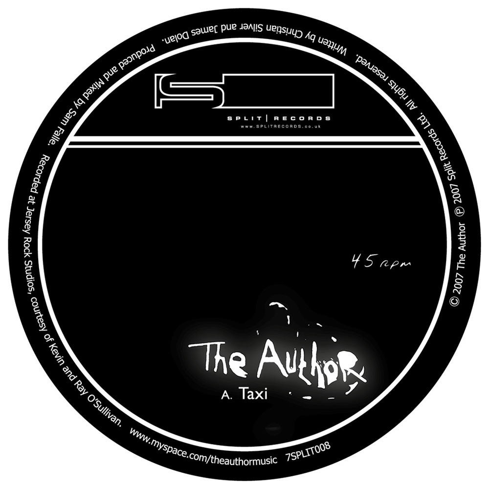 The Author, release artwork, for Split Records