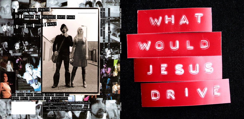 What Would Jesus Drive, release artwork, for Split Records
