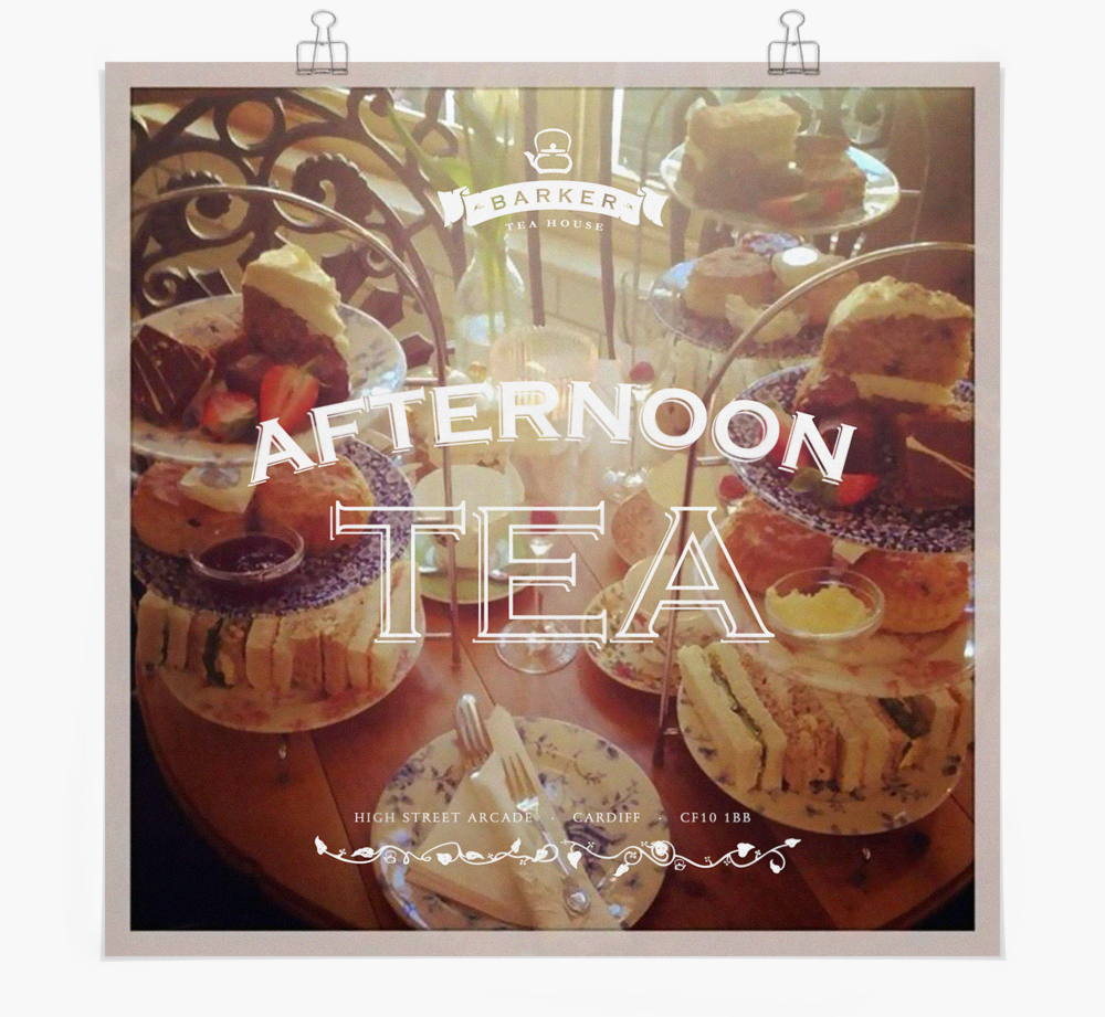 Advertising and marketing for afternoon tea, for Vintage Tea & Coffee Co.