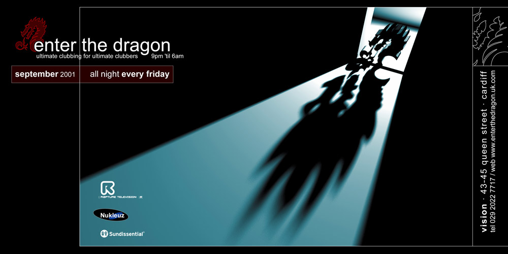 Promotional flyer design for Enter The Dragon, for Enter The Dragon