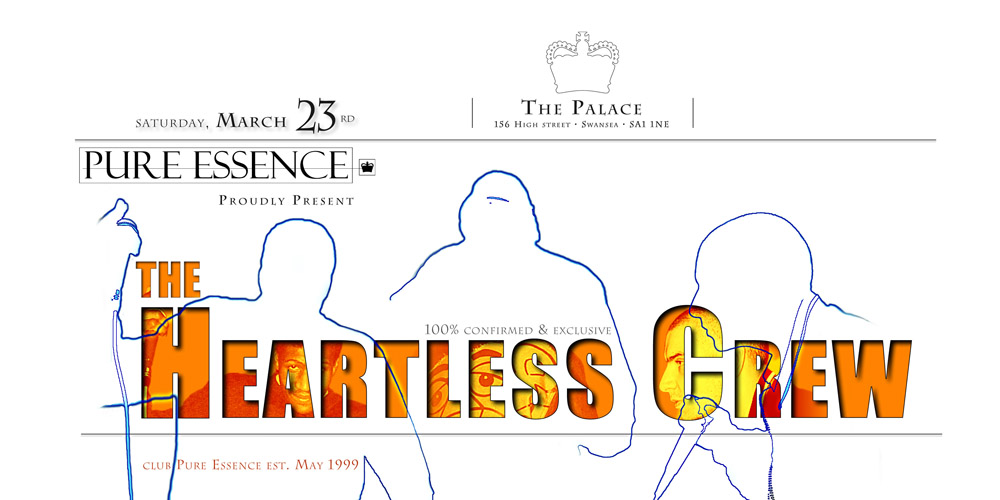Club event, Heartless Crew and DJ EZ, for Pure Essence