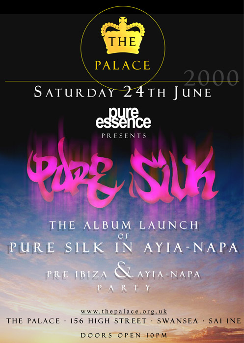 Promotional flyer design for Pure Silk, for Pure Silk