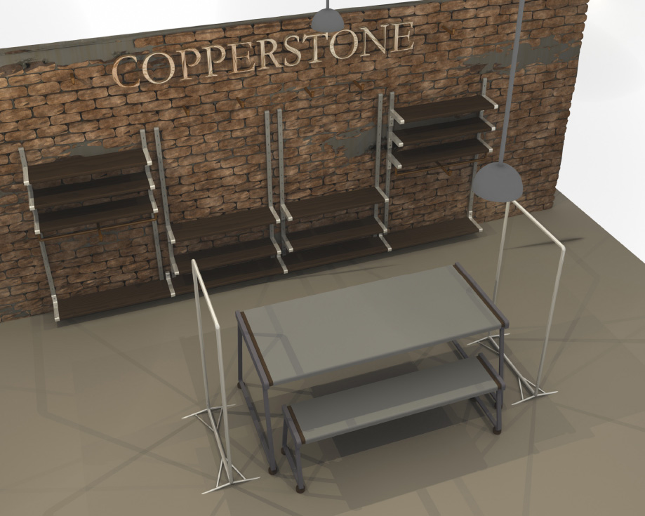 Shop fit visualisation, for Copperstone