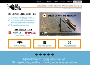 Big Brain Maths Website