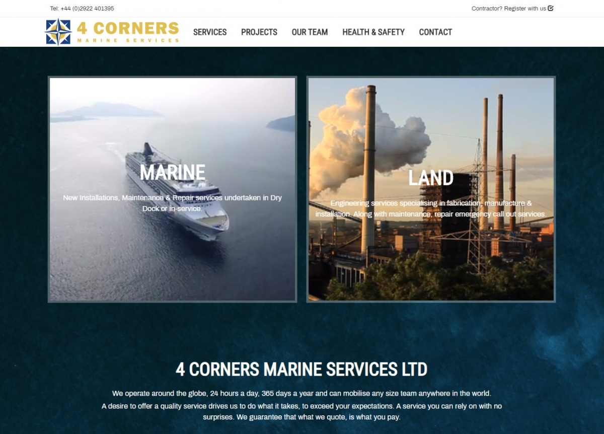 Four Corners Marine Services Website