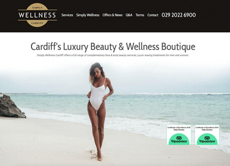 Simply Wellness Cardiff Website