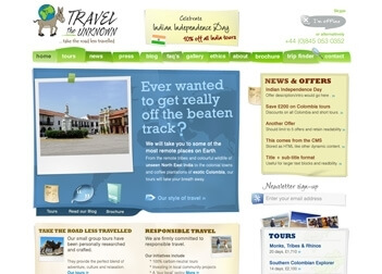 Travel The Unknown, 2008-2012 Website